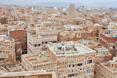 Old Sanaa buildings royalty free stock photo