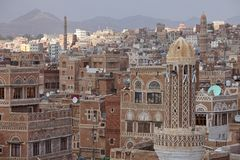 Old Sanaa buildings Stock Images