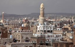 Old Sanaa buildings Royalty Free Stock Photography