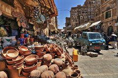 Old Sanaa market Stock Photography