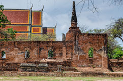 Old Sanctuary. In Ayutthaya Historical Park.Public Place Royalty Free Stock Image