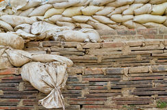 Old sand bags Royalty Free Stock Image