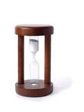 Old Sand-Glass. Ordinary hourglass isolated over the white background Royalty Free Stock Images