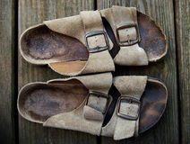 Old sandals Royalty Free Stock Photography