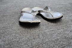 Old Sandals or Flip Flops Stock Images