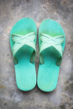 Old sandals green Royalty Free Stock Images