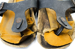 Old Sandals over white Royalty Free Stock Image