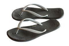 Old sandals on white background Royalty Free Stock Image