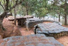 Old sandbag bunker Royalty Free Stock Images