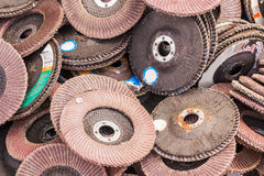Old sanding discs Stock Images