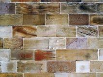 Old Sandstone Block Wall. Stock Photos