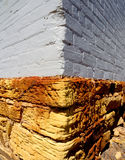 Old sandstone foundation Royalty Free Stock Images