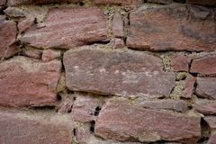 Old sandstone wall in detail Royalty Free Stock Photo