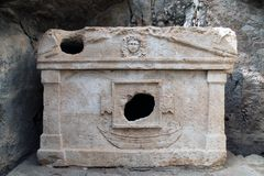 Olympos ancient city. An old sarcophagus in Olympos ancient city, Kumluca, Antalya Stock Images