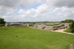 Old Sarum. Ruins of ancient settlement of Old Sarum Royalty Free Stock Photography