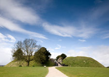 Old Sarum monument, Wiltshire, UK Stock Photography