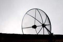 Old satellite antenna - bad communica Royalty Free Stock Image