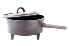 Old saucepan isolated Royalty Free Stock Photo
