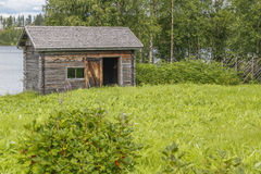 The old Sauna. In eastern Finland stock photography
