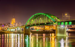 Old Sava Bridge in Belgrade Stock Images