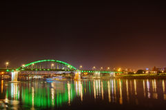 Old Sava bridge - night picture Royalty Free Stock Photos