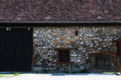 Old Savoyard house restored Stock Photo