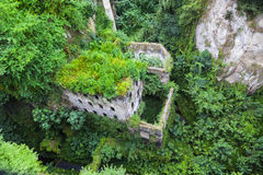 Old Saw Mill Ruin in Sorrento. Italy was built around the 10 century Royalty Free Stock Image