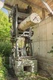 Old sawing machine on display Stock Image