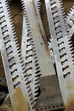 old sawmill blades broken Royalty Free Stock Photography
