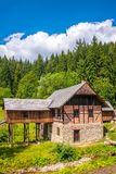 An old sawmill. Old sawmill in the museum Kysuce village, Slovakia, central Europe Royalty Free Stock Photos