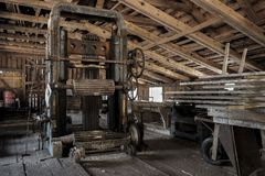 An old sawmill in Sweden. An old wood sawmill that is still operational stock photography