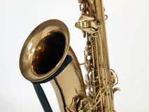 Old Sax on Stand. Vintage Sax from the 1930's sitting on a stand Royalty Free Stock Image