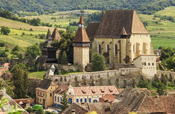 Old saxon fortified church. Biertan in Transylvania Royalty Free Stock Photos