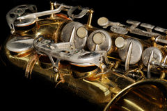 Old Saxphone Royalty Free Stock Photos