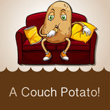 Old saying couch potato Stock Photos