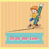 Old saying draw the line Stock Photos