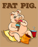 Old saying fat pig Stock Photography