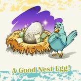 Old saying good nest egg. Illustration Stock Photography