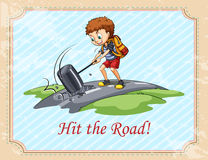 Old saying hit the road Stock Image