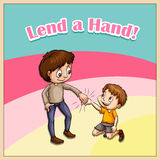Old saying lend a hand Stock Photos