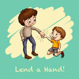 Old saying lend a hand Royalty Free Stock Photography