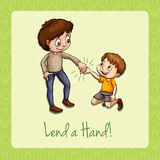 Old saying lend a hand Royalty Free Stock Photo