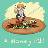 Old saying money pit Stock Photography
