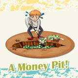 Old saying money pit Royalty Free Stock Images