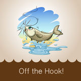 Old saying off the hook Royalty Free Stock Photo