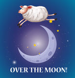 Old saying over the moon Stock Images