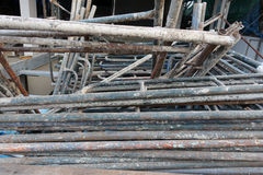 Old scaffolding pipes Stock Image