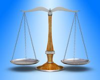 Old scale. Old precision scale (high resolution 3d-render Royalty Free Stock Photo