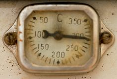 Old scale display of thermometer Royalty Free Stock Photo