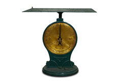 Old scale with power of 50 kg Royalty Free Stock Image